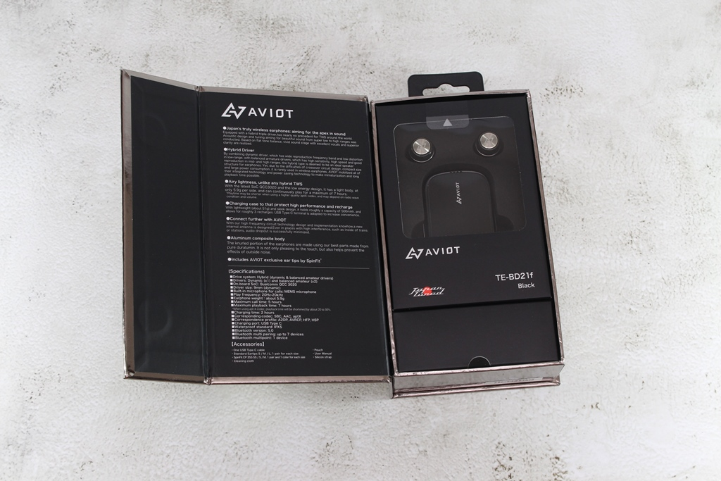 AVIOT TE-BD21f真無線藍牙耳機-圈鐵混合三單體,日系美聲新...4646