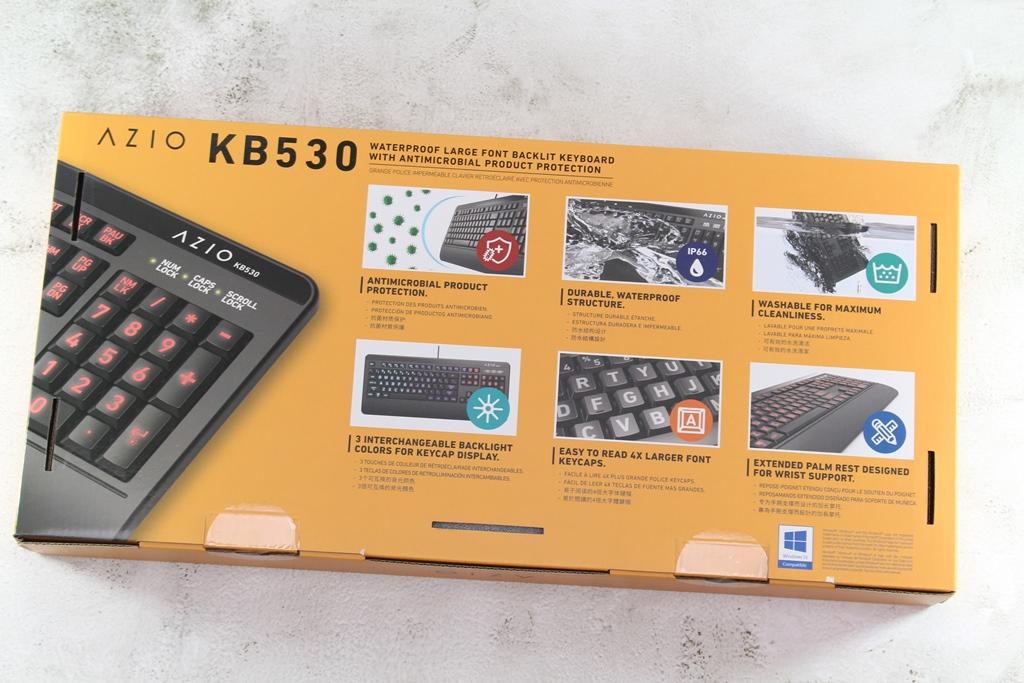 AZIO KB530 & MS530抗菌可沖洗有線鍵盤滑鼠-髒了水洗就對了!301