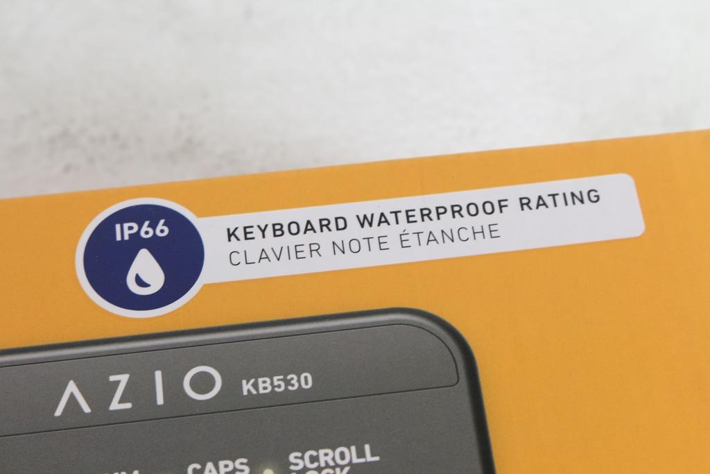 AZIO KB530 & MS530抗菌可沖洗有線鍵盤滑鼠-髒了水洗就對了!4769