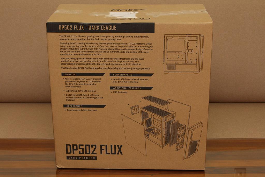 安鈦克Antec DP502 FLUX鋼化玻璃透側機殼-面板造型高顏值,F-L...4248