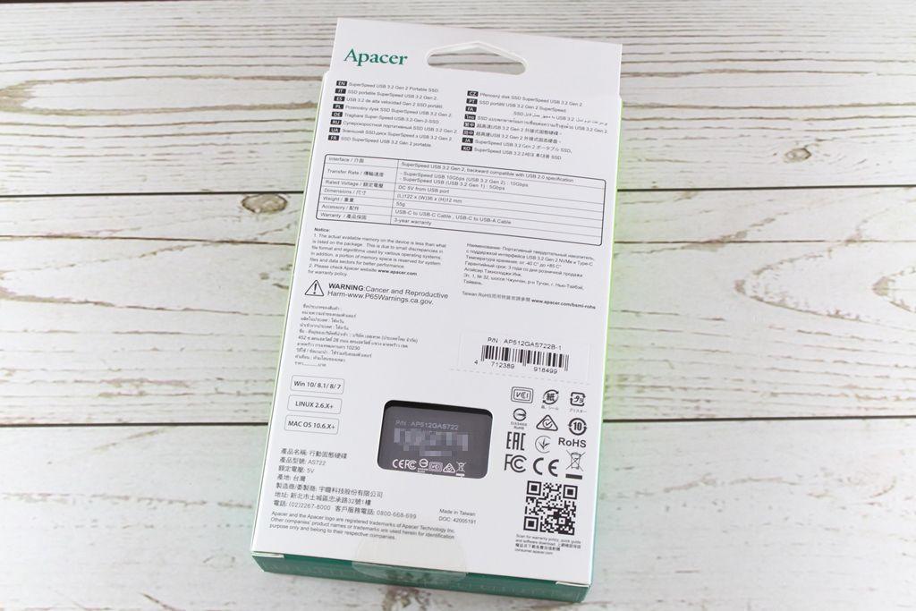 宇瞻Apacer AS722 USB3.2 Gen2 NVMe Type-C外接式固態硬碟-大容量與...6201