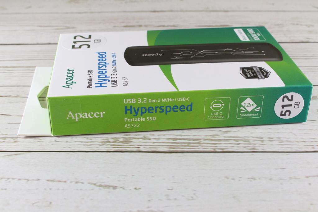 宇瞻Apacer AS722 USB3.2 Gen2 NVMe Type-C外接式固態硬碟-大容量與...5836
