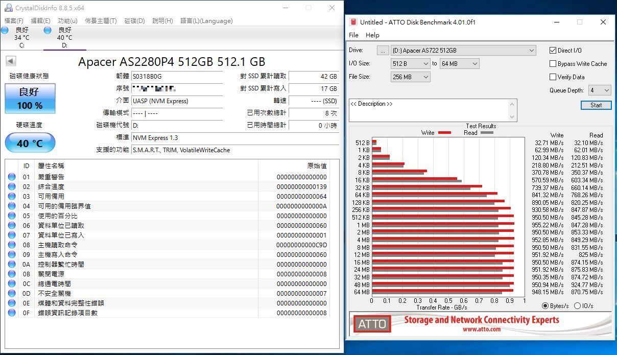 宇瞻Apacer AS722 USB3.2 Gen2 NVMe Type-C外接式固態硬碟-大容量與...9513