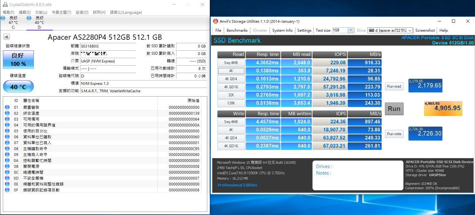 宇瞻Apacer AS722 USB3.2 Gen2 NVMe Type-C外接式固態硬碟-大容量與...192