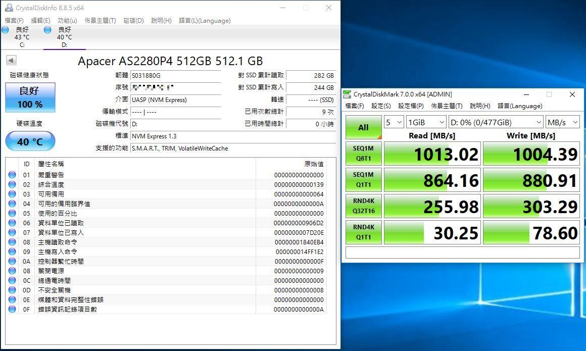 宇瞻Apacer AS722 USB3.2 Gen2 NVMe Type-C外接式固態硬碟-大容量與...1567