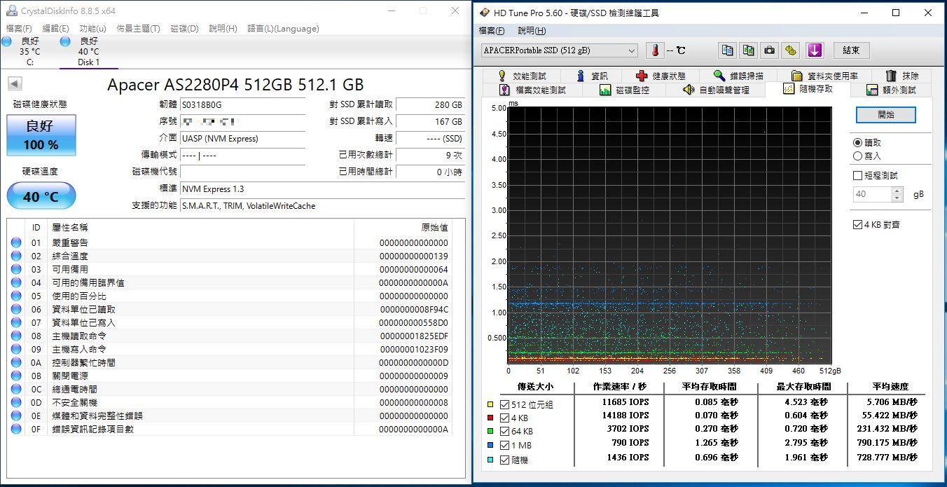 宇瞻Apacer AS722 USB3.2 Gen2 NVMe Type-C外接式固態硬碟-大容量與...5855