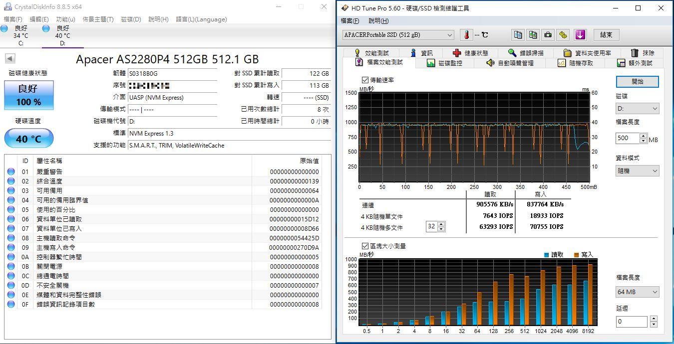 宇瞻Apacer AS722 USB3.2 Gen2 NVMe Type-C外接式固態硬碟-大容量與...9179