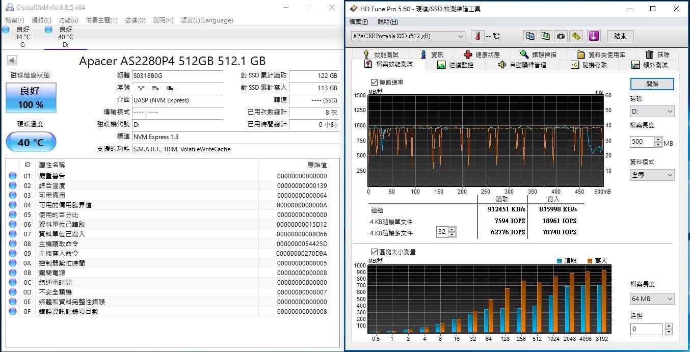 宇瞻Apacer AS722 USB3.2 Gen2 NVMe Type-C外接式固態硬碟-大容量與...4354