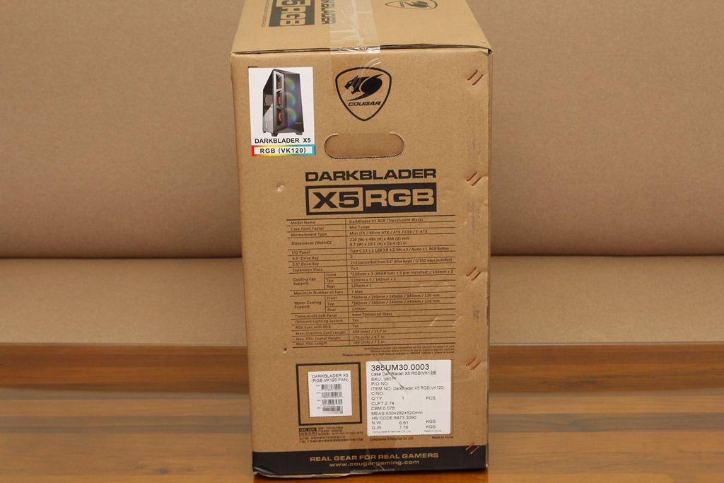 美洲獅COUGAR DarkBlader X5 RGB中塔機殼-低調內斂的視覺燈效,...3203