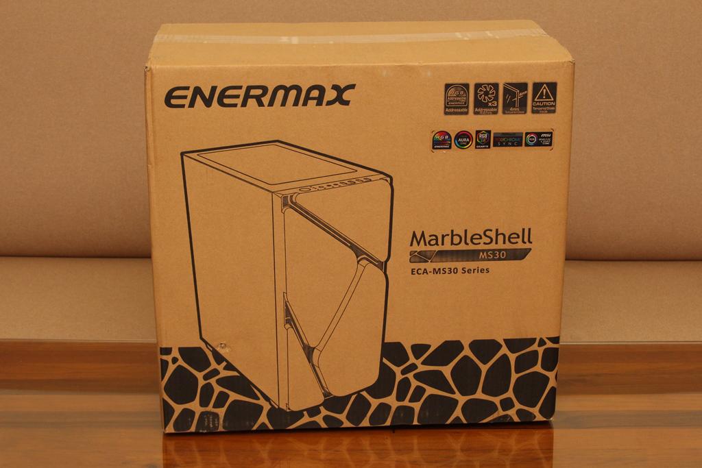 安耐美ENERMAX MarbleShell MS30冰曜石ATX ARGB中塔機殼-獨特面板...4277