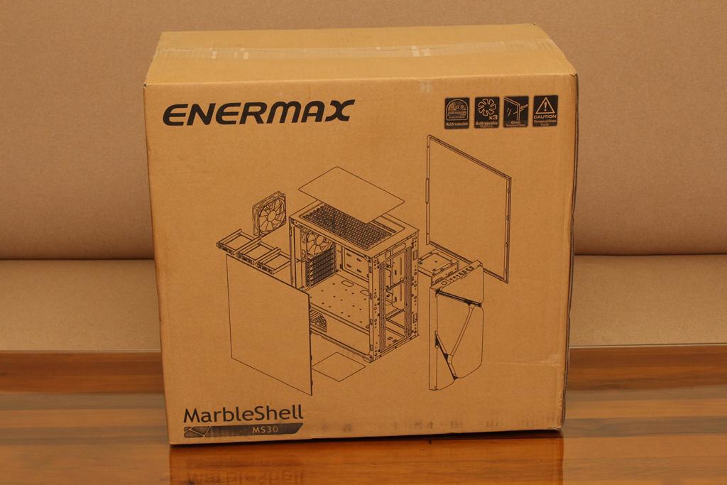 安耐美ENERMAX MarbleShell MS30冰曜石ATX ARGB中塔機殼-獨特面板...6499