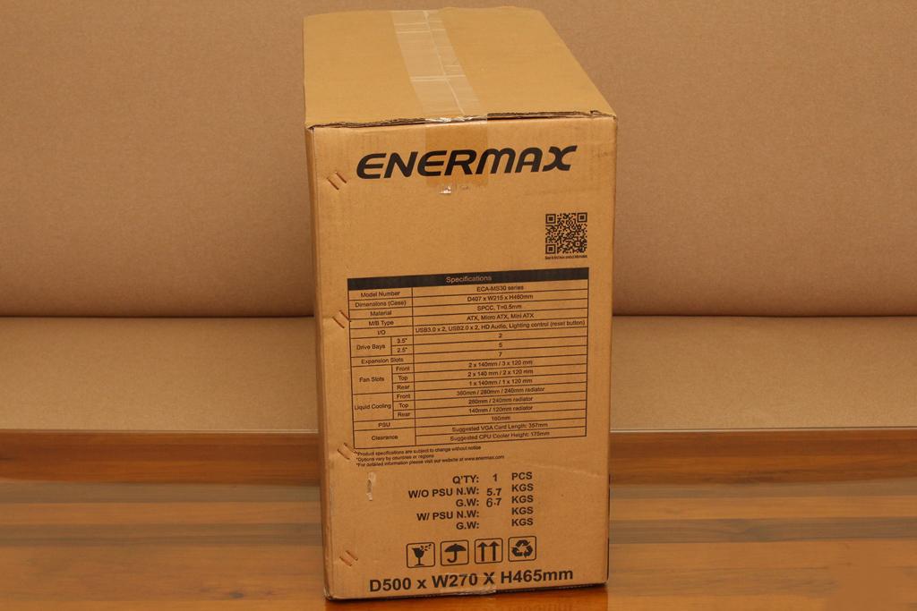 安耐美ENERMAX MarbleShell MS30冰曜石ATX ARGB中塔機殼-獨特面板...7370