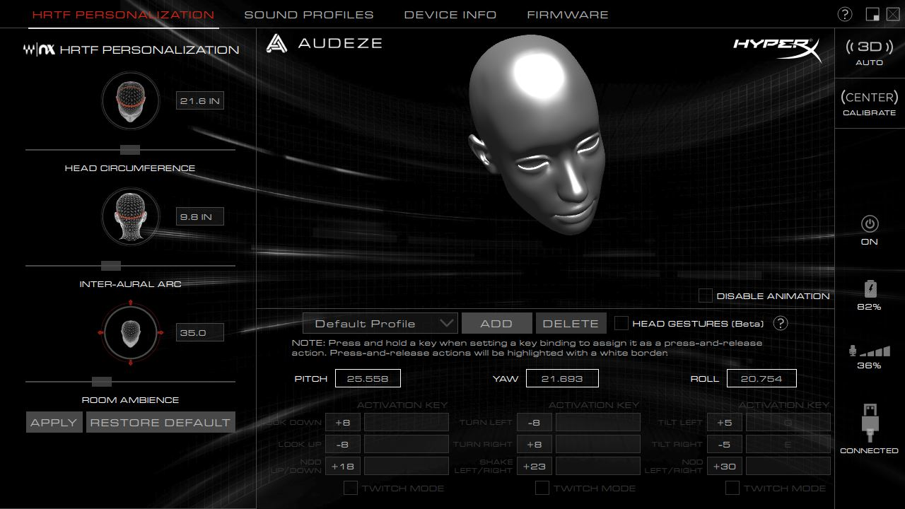 HyperX Cloud Orbit S聲學電競耳機-搭載Waves Nx頭部追蹤技術,三維立體音場沉浸式體驗