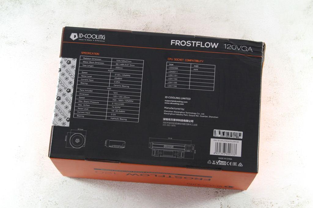 ID-COOLING FROSTFLOW 120-R一體式水冷散熱器-120mm水冷也能壓制In...5455