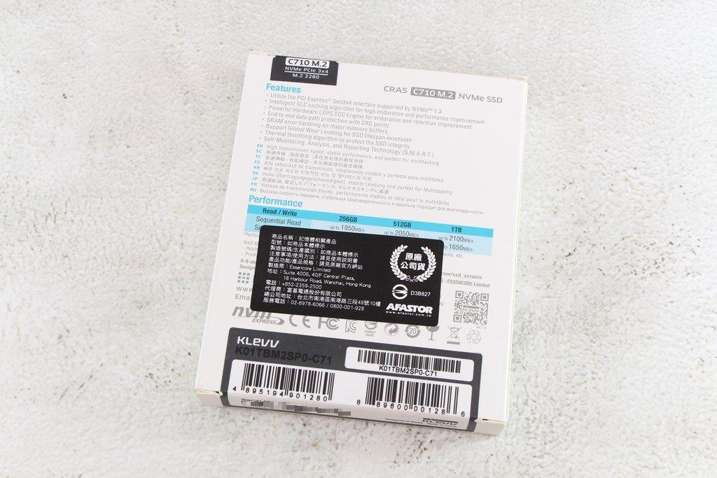 科賦KLEVV CRAS C710 M.2 NVMe PCIe SSD固態硬碟-新品駕到~~入主大容量系統碟新選擇!