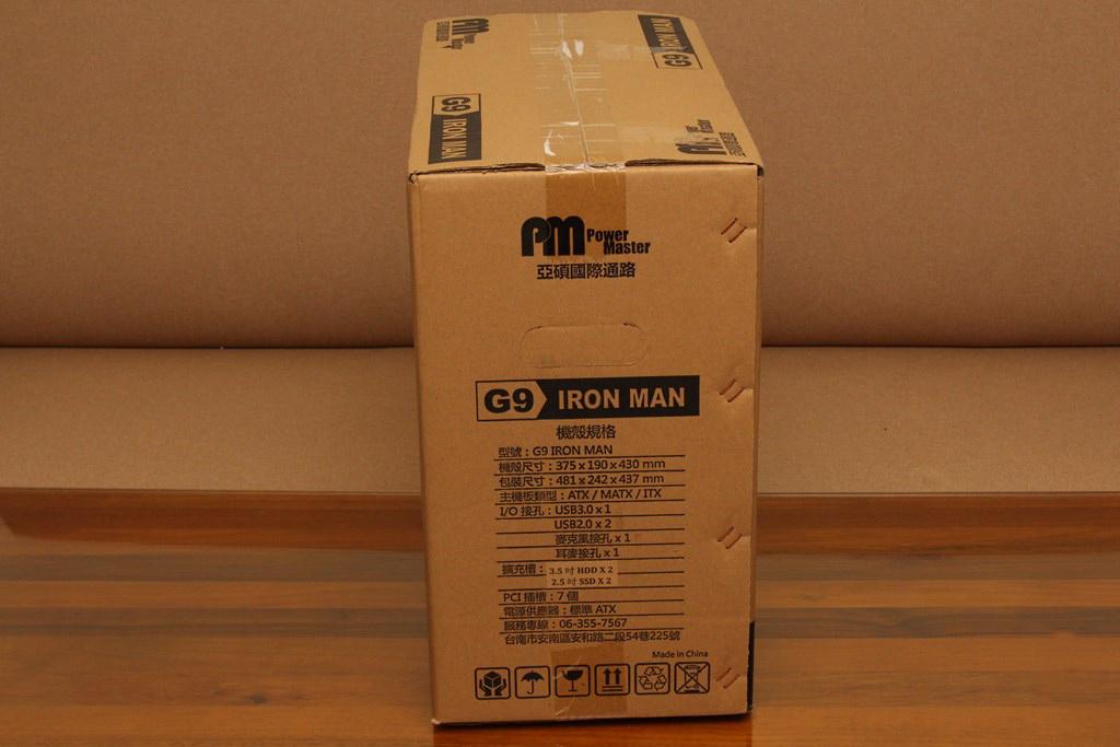 亞碩Power Master G9 IRON MAN鋼鐵人RGB機殼-搭載獨特鏡面發光燈效與鋼化玻璃側板,平價機殼再添一枚生力軍 - 6
