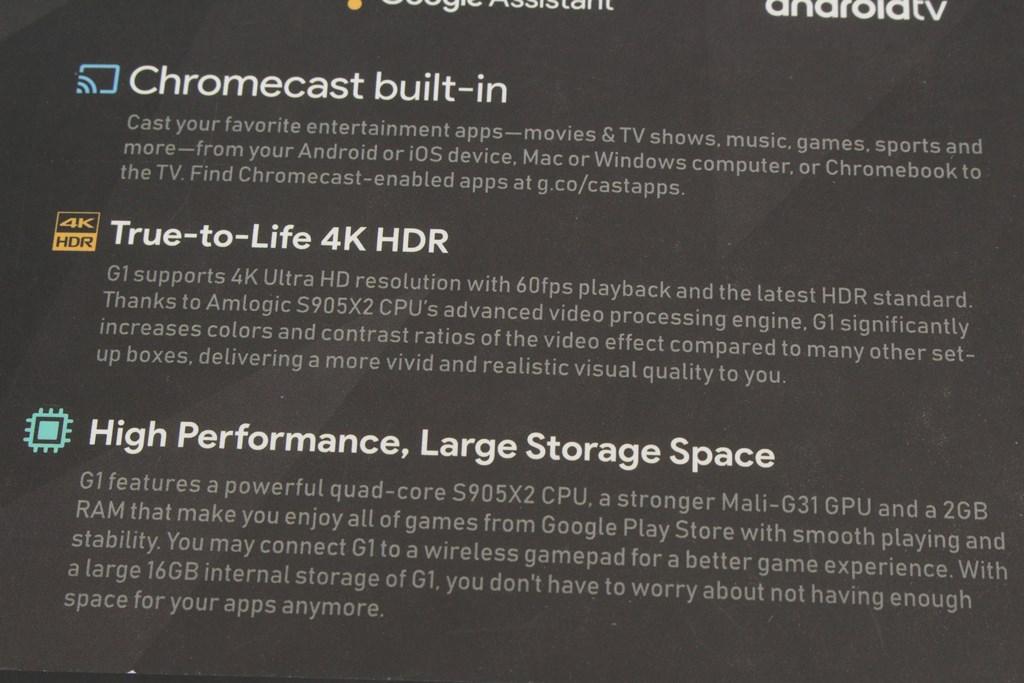 雷爵RockTek G1 4K HDR電視盒-無痛升級Google授權Android TV系統,語音助理免動手 - 9
