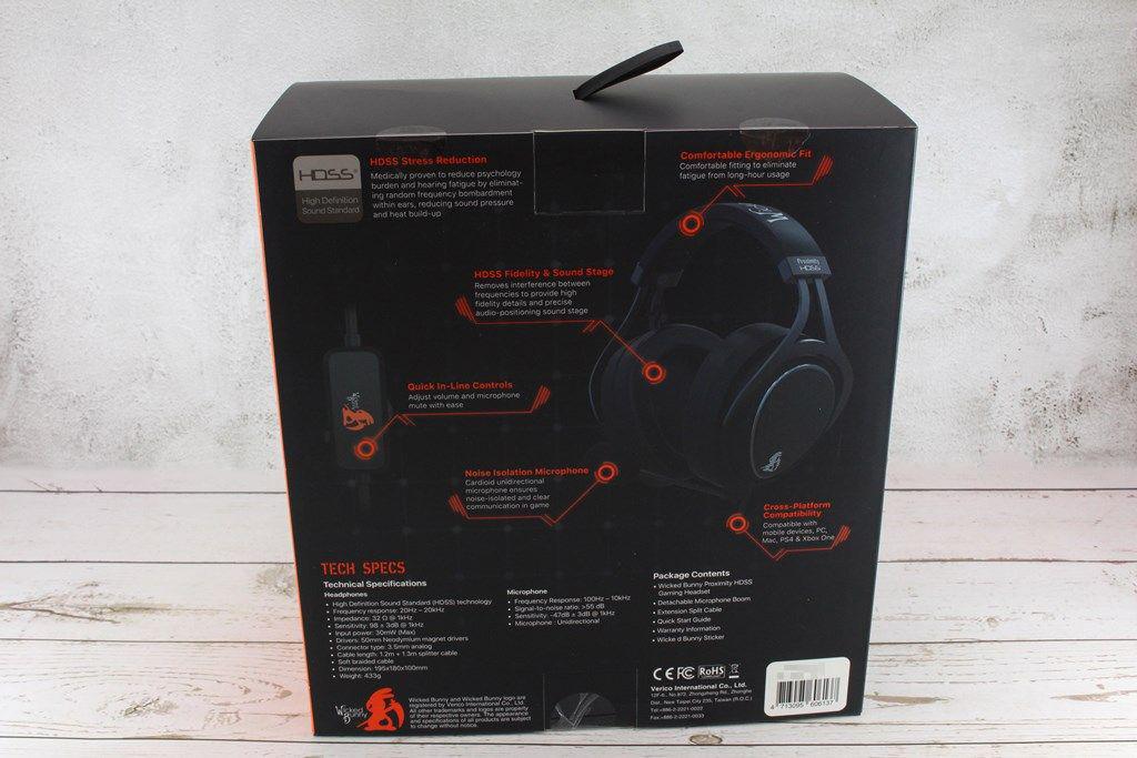 威克邦尼Wicked Bunny Proximity HDSS電競耳機-厚實耳罩沉浸體驗4988