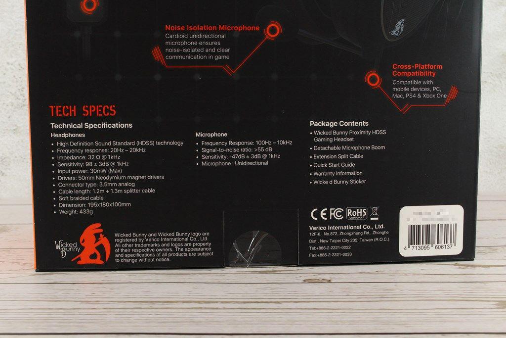 威克邦尼Wicked Bunny Proximity HDSS電競耳機-厚實耳罩沉浸體驗8900