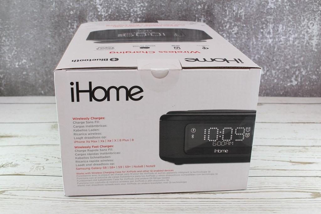 iHome iBTW23BE無線充電藍牙喇叭-鬧鐘、Qi無線充電、USB充電、藍牙喇叭,多功能應用一次擁有