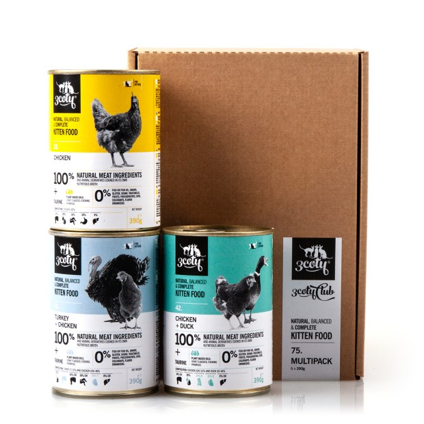 3coty 75.A Multipack kissanpennuille 6 x 390g