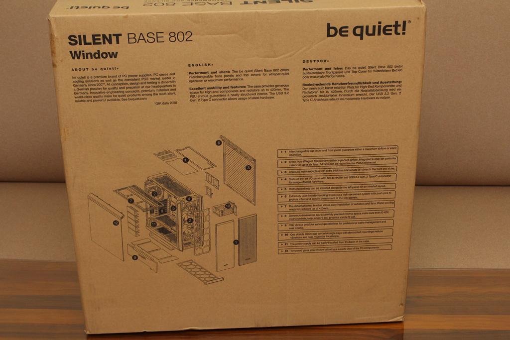 be quiet! SILENT BASE 802鋼化玻璃透側機殼-擴充能力一流,靜...8175