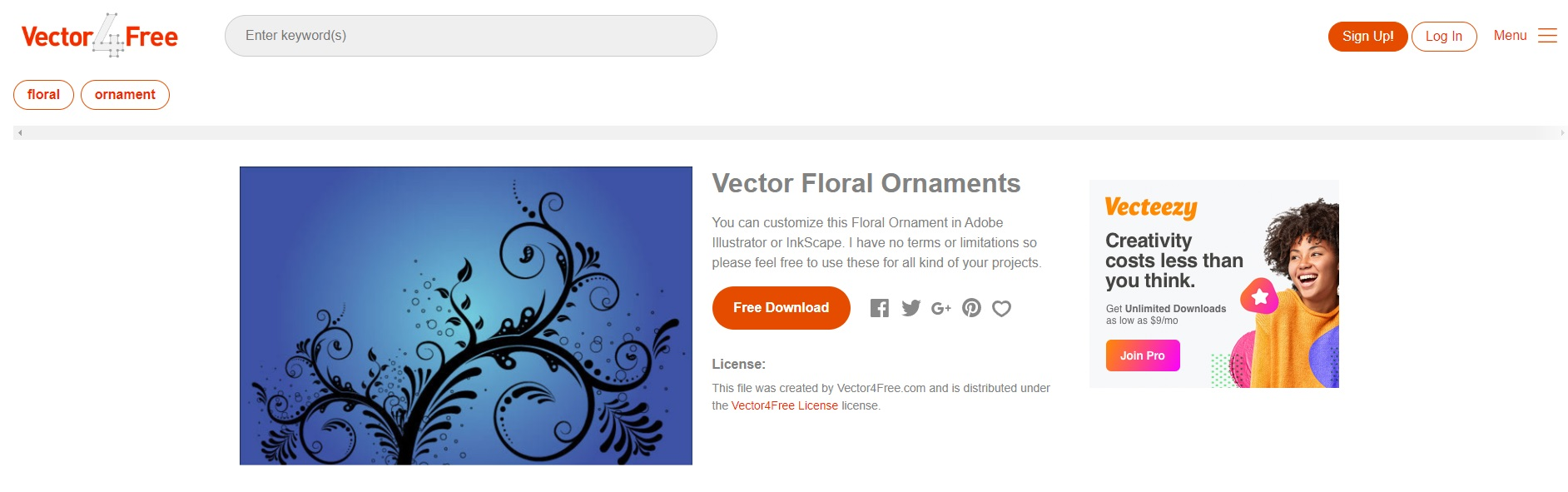 Vector4Free | 免費的網站向量素材下載