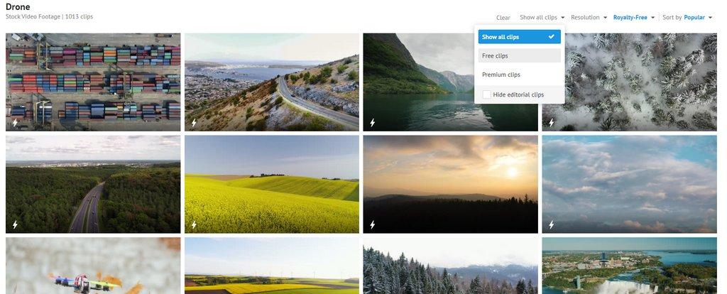 Videvo 自由下載近 8000 的影片、音樂、音效等影片編輯素材