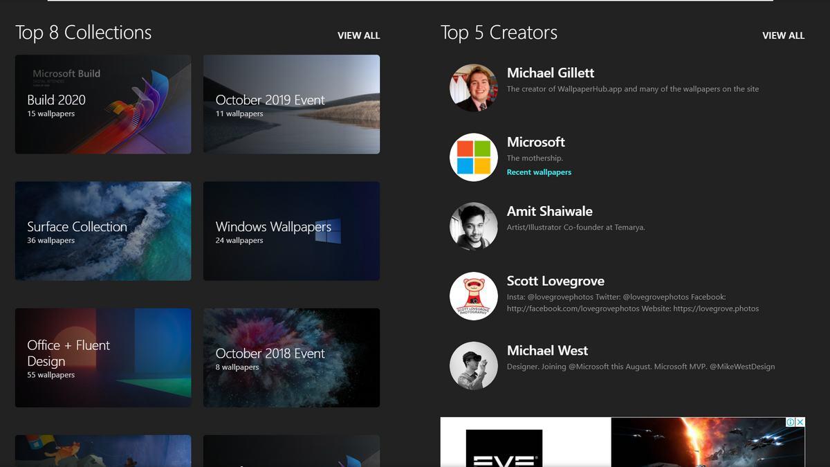 WallpaperHub   給你精美的微軟公司桌面