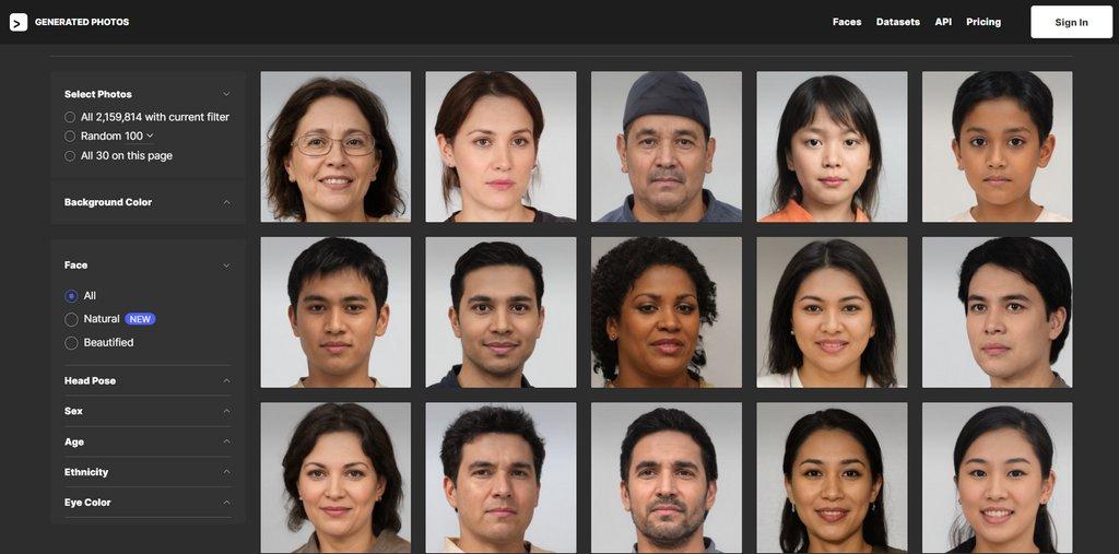 Generated.Photos 給你栩栩如生的 A.I. 創作人像
