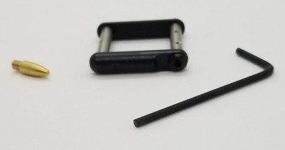 Stainless steel anti-walk pins with side plates