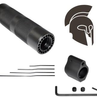 "7"" Carbine Round Knurled Grip Tube Handguard Gas Tube Block Kit Combo"