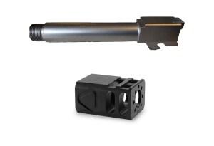 Bead blasted Threaded Glock barrel and TBC Comp Combo
