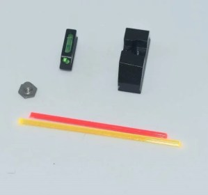 Steel Fiber Optic Standard Height Glock Sights