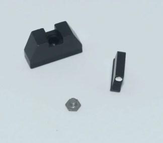 Tall Glock steel white-dot sights