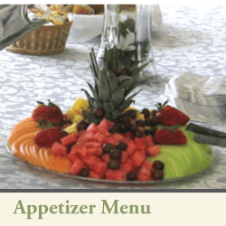 3Cs catering appetizer menu