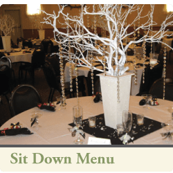 3cs catering sit down menu