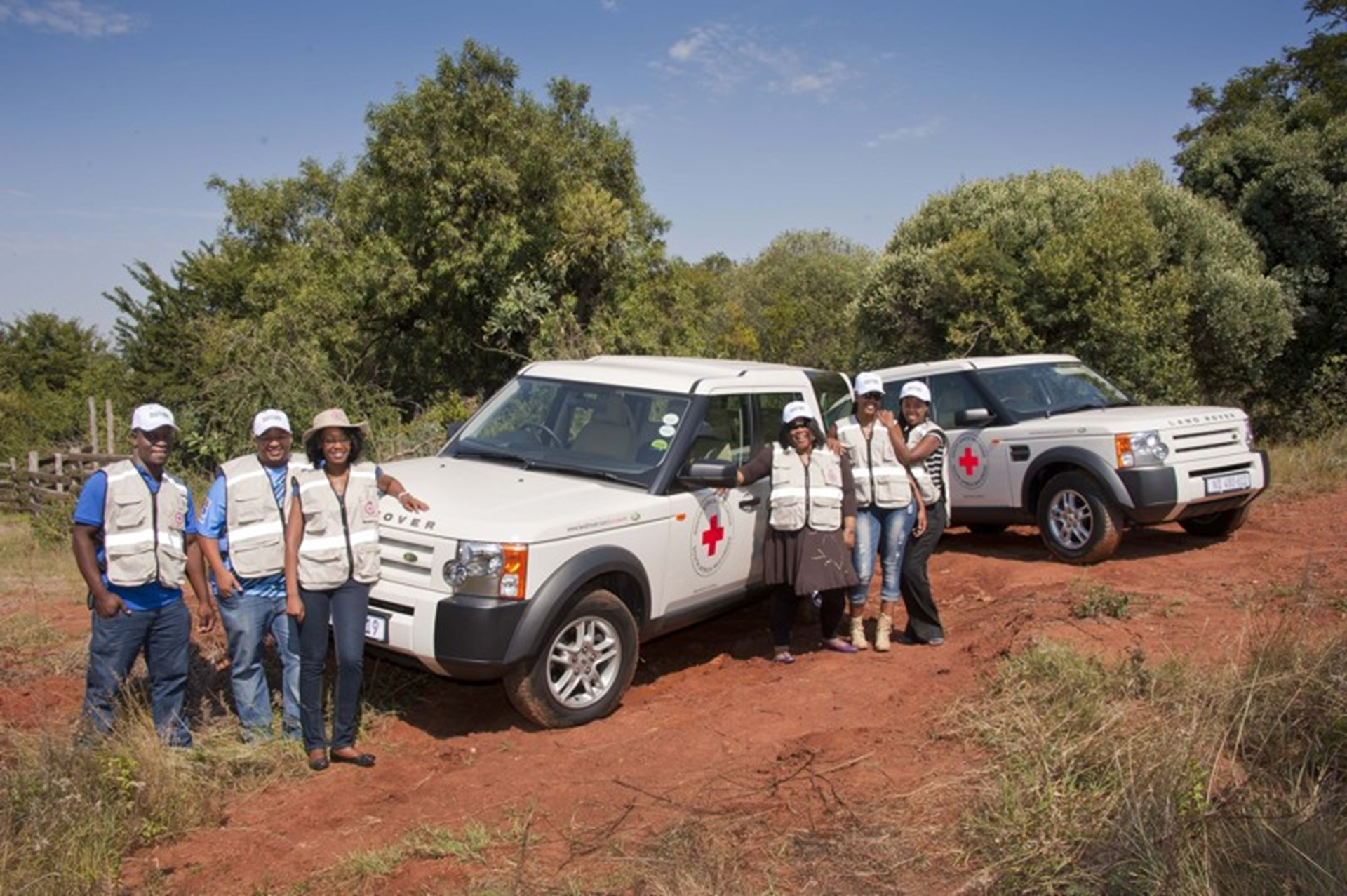 South African Red Cross Attends Land Rover Experience Driver