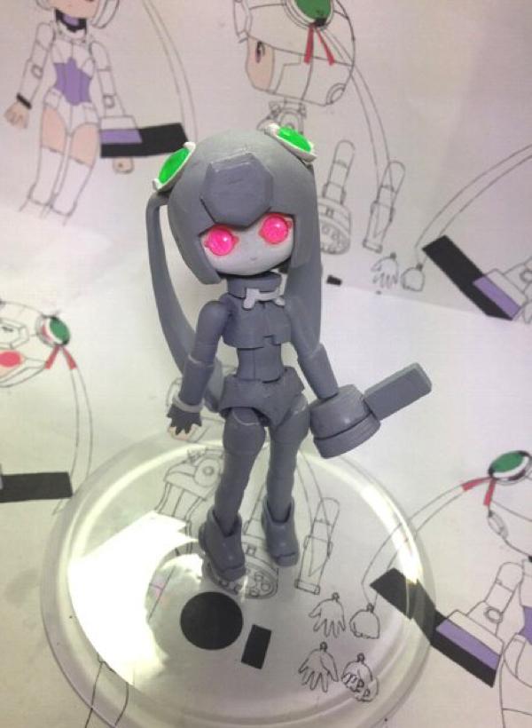 3Dプリンタ「BS01」でフィギュアの原型を製作している人を発見!