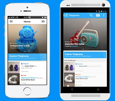 Thingiverse Mobile App