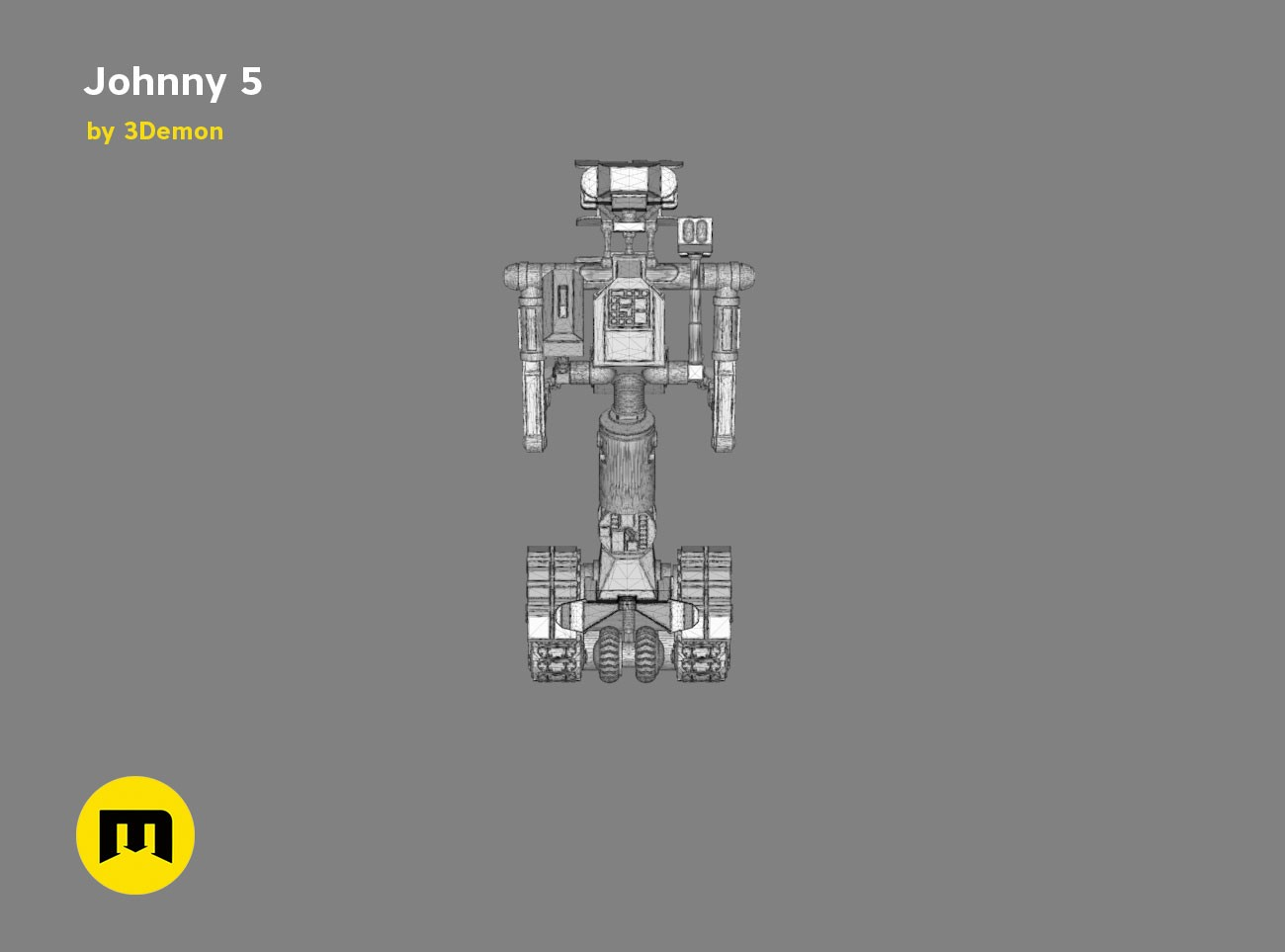 Johnny 5 3demon 3d Print Models Download