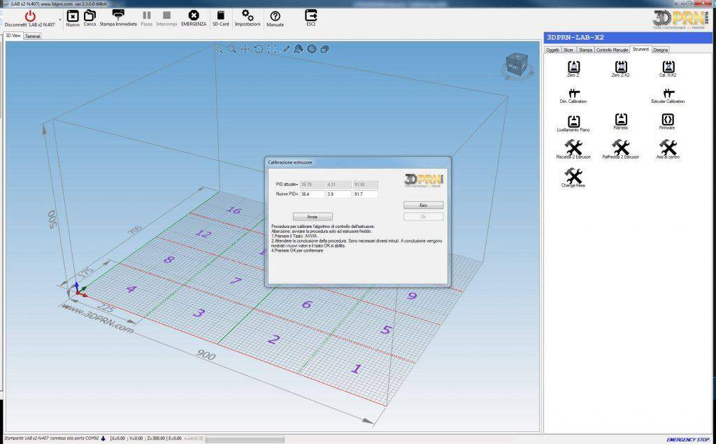 Software per stampante 3D calibrazione estrusori 1024x635