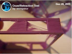 3D Printer Retraction test