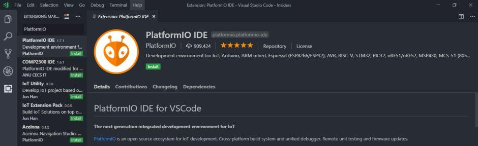 marlin 2.0 platformio extension vscode install