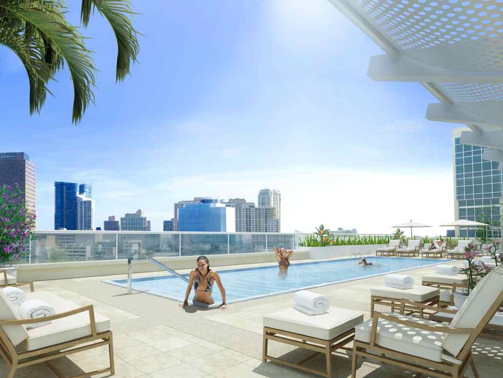 Pool on Roof - Seagate Properties 3D Concept in Fort Lauderdale, Florida