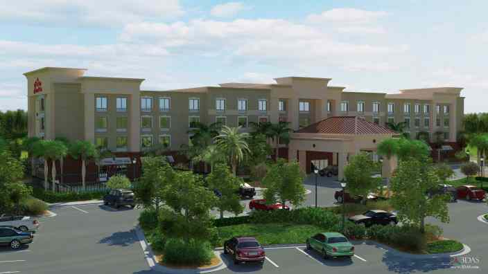 Hampton Inn 3D Entrance | Stuart, Florida