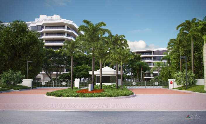 The Sanctuary Front Entrance Concept in Longbow Key (Sarasota) Florida