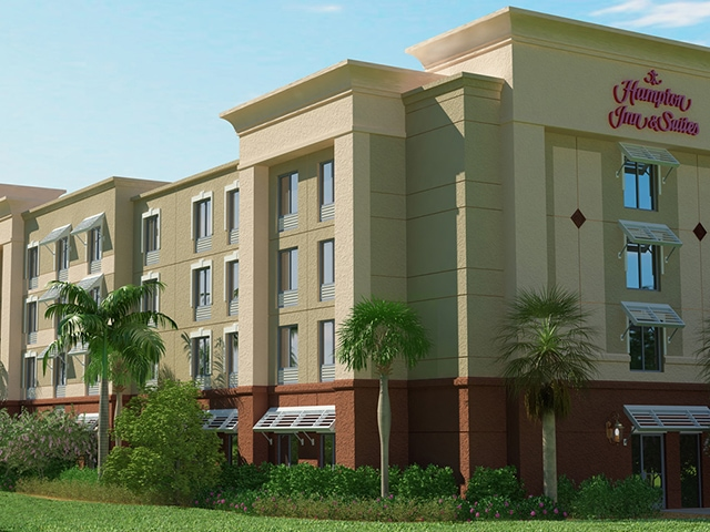Hampton Inn Suites Stuart North - 3D Rendering