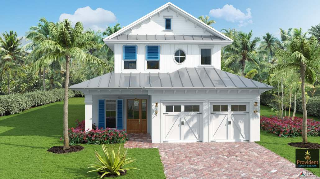 Naples 723 Myrtle Terrace - Beach Home - 3D Rendering - Before