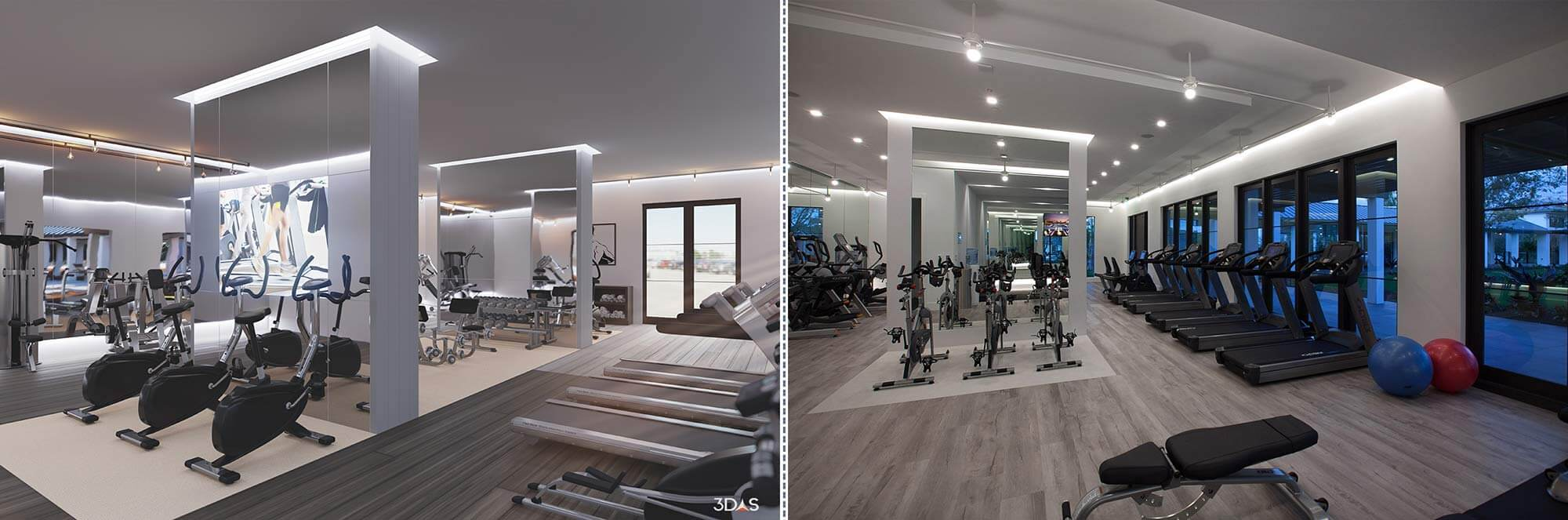 Kalea Bay 3D Rendering (Left) and Photo (Right)